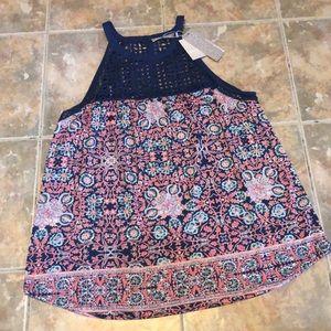 Daniel Rainn Crochet Neckline Tank Size XL